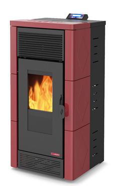 LASIAN modelo STROMBOLI PLUS de  3,8 a 12 Kw. calentamiento mediante aire canalizable de 12 KW de potencia térmica máxima. Capacidad de calentamiento de 200 m3 (modelos en burdeos y beige)  con mando a distancia.