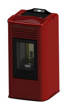 FERROLI modelo TERMO VEGA de 12,05 Kw. de poténcia, consumo 2,78 Kg/hora, volumen del depósito 22 kg. Rendimiento 97,41%, de acero , para calefactar estancias de hasta 105 m2 con mando a distancia incluido.